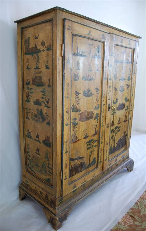 Decoupage Wardrobe - 19th century italian decoupage armoire at 1stdibs