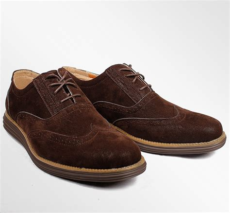 polo oxford shoes mens polo smith brouges suede look wide brogues gibson