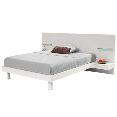 Platform Bed With Nightstands Chico White Platform Bed W Nightstands El Dorado Furniture