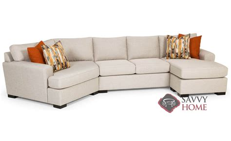 Curved Sectional Couches by 390 Fabric Stationary Chaise Sectional By Stanton Is Fully