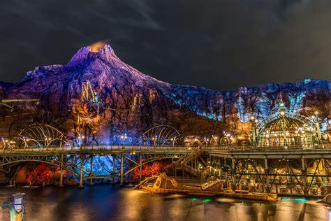 hd theme park wallpaper tokyo disneysea at night 5k retina ultra hd wallpaper and