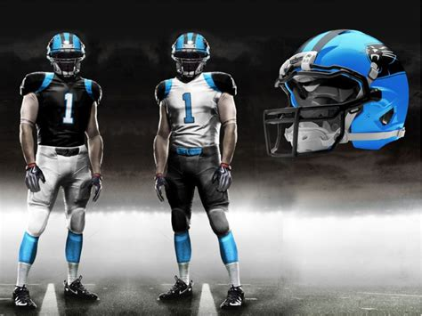 panthers colors nfl carolina panthers new uniforms on one of the nfl s great