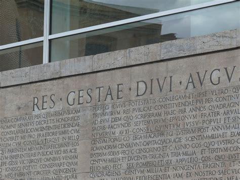 res gestae divi augusti translation pouvoir epigraphie res gestae divi augusti ara pacis rome