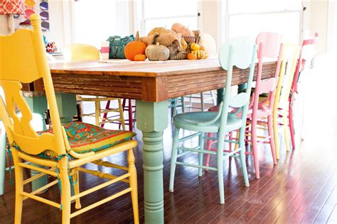 Colorful Dining Room Table by Dining Room 10 Extraordinary Colorful Dining Room Chairs