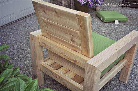 Rustic Patio Chair by Diy Modern Rustic Outdoor Chair Gray Table Home