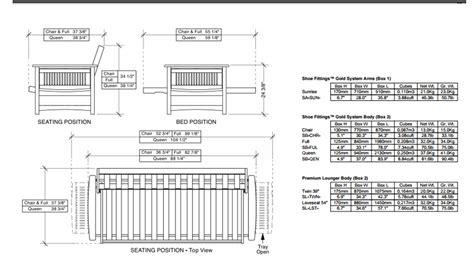 standard futon length modern futon full size sunrise futon frame night and day