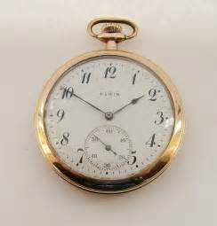 antique 1915 elgin gold plated pocket 283158