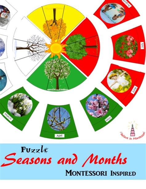 montessori printables uk seasons and months montessori inspired puzzle learning
