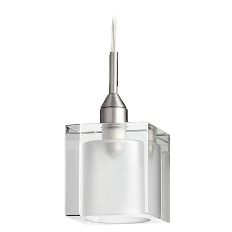 Nickel Pendant Light Quorum Lighting Satin Nickel Mini Pendant Light With Square Shade 1361 65 Destination Lighting