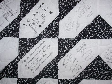 Autograph Quilt Patterns by The Quilting Rack Signature Wedding Quilt