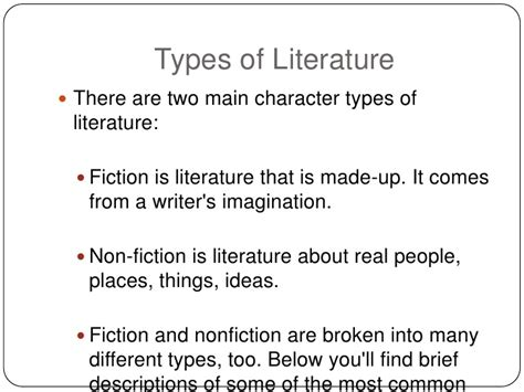 two kinds of books types of literature