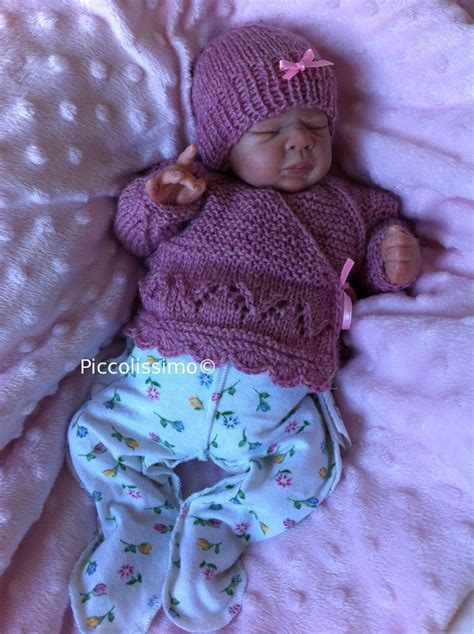 micro preemie knitting patterns knitted dusk pink cross top and hat 12 inch micro