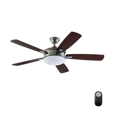home depot led ceiling fan hunter fan light kit home depot indoor brushed nickel