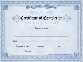 completion certificate template free completion certificate template 25 free word pdf psd