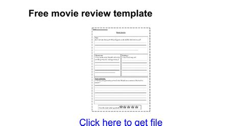 documentary review template free review template docs