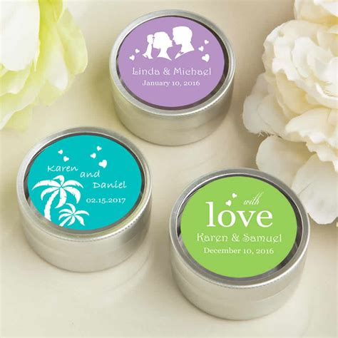 Wedding Favors Tins by Personalized Mint Tin Wedding Favors Silver Color Free