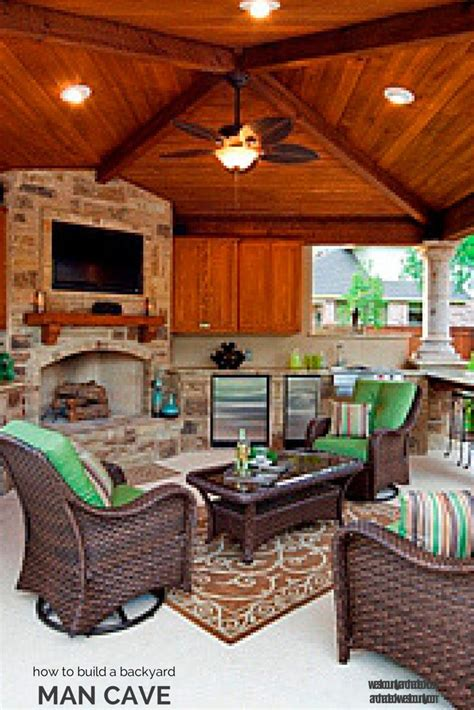 backyard man cave turn an open porch into an outdoor room how to build a