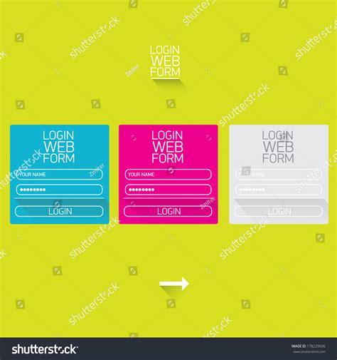 Vector Login Website Template Flat Design Stock Vector 178229936 Shutterstock Login Website Template