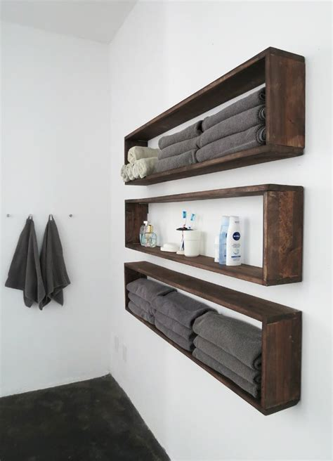 bathroom hanging shelves diy wall shelves in the bathroom tutorial bob vila