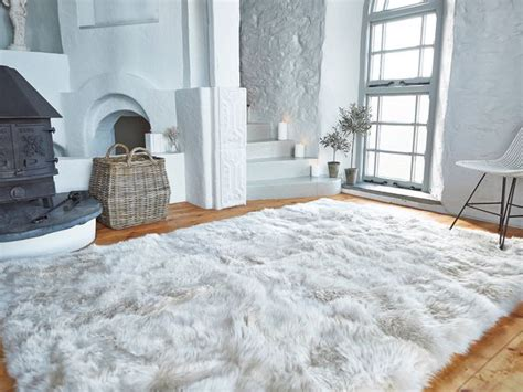 Luxury Round Rugs Luxurious Xl Sheepskin Rug Linen Nordic House