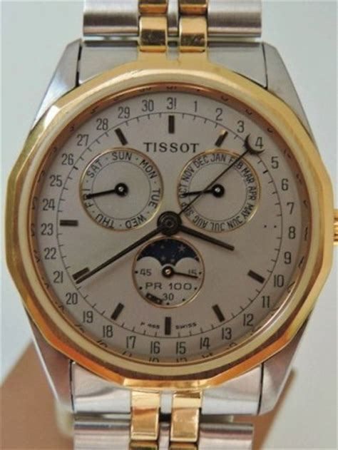 Tissot T1 Pr 100 Silver Gold tissot pr 100 moonphase swiss made for sale in hospital