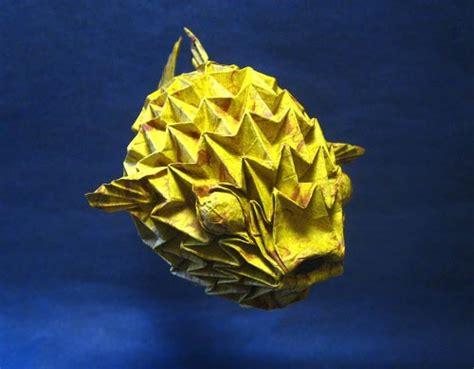 Origami Puffer Fish - origami puffer fish