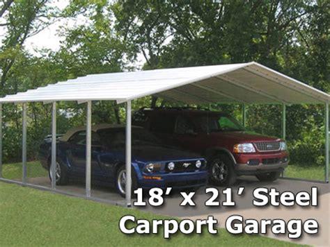 4 Car Metal Carport 18 X 21 X 6 Steel Carport Garage Storage Building