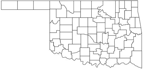 oklahoma counties map oklahoma counties the lost ogle