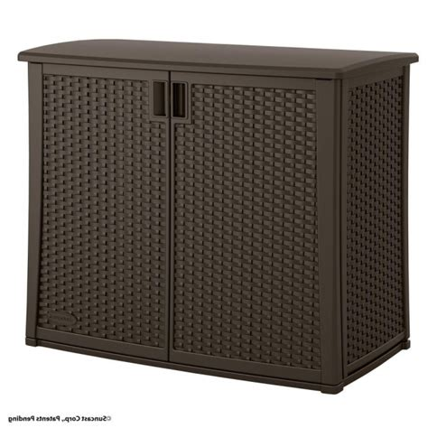 suncast outdoor storage cabinet gorgeous suncast 97 gal resin outdoor patio cabinet