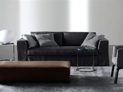 upholstered sofa with removable cover guinness by meridiani