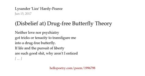 tion poem bad habit poem by ace of black hearts disbelief at free butterfly theory by lysander Addi