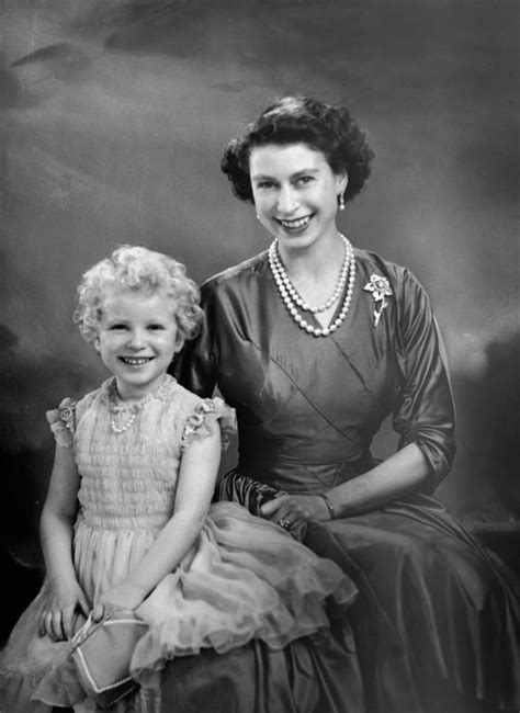 Queen Elizabeth II With Her Only Daughter, Anne, Princess