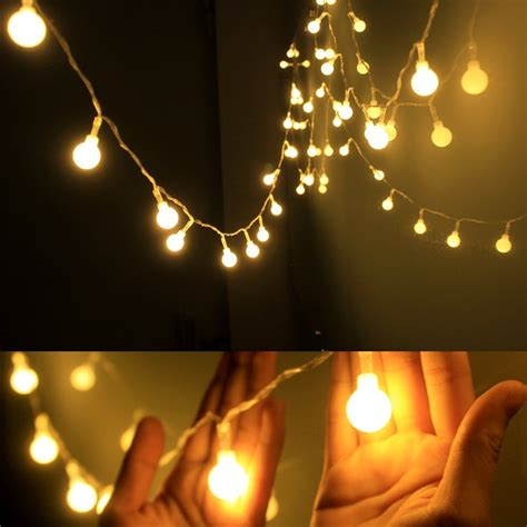 Starry String Lights Bedroom Gledto 4m 13 40 Led Waterproof Globe String Lights Battery Starry Light For