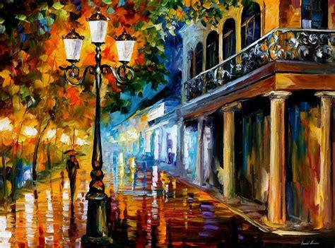 paint nite cities leonid afremov on canvas palette knife buy original
