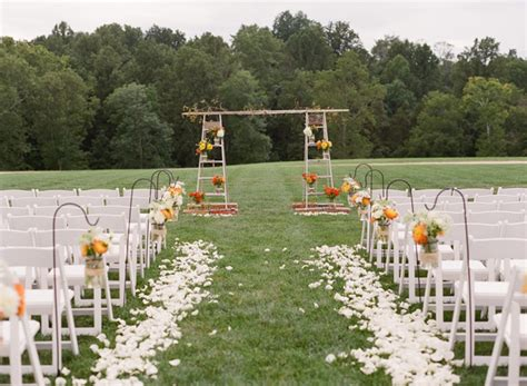 outdoor wedding ceremony setup sydney save