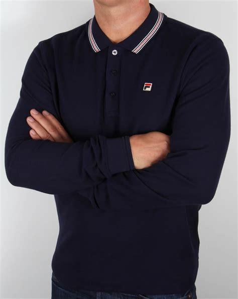 Polo Shirt Fila 3 fila vintage matcho 3 sleeve polo shirt navy match mens