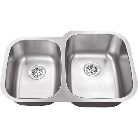 brushed steel kitchen sink ipt sink company undermount 32 in 18 gauge stainless