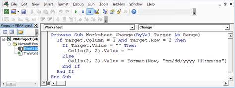 worksheet change byval target as range vba excel