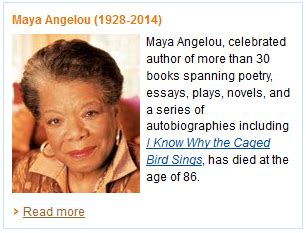 Angelou Biography Essay by Remembers Angelou Me And My Kindle