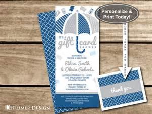 gift card shower invitation wedding shower bridal shower