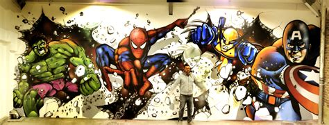 watch our massive marvel avengers graffiti mural by the