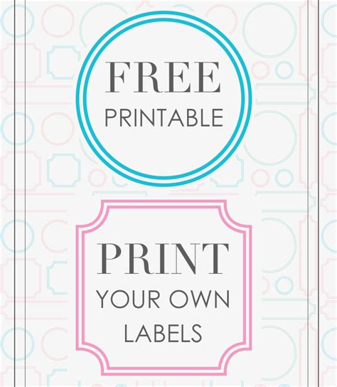 design free printable labels create your own kitchen design kitchen design ideas which