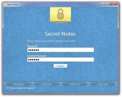 secret notes create manage password protected post it notes with