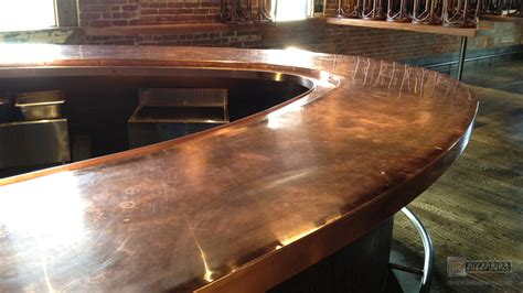 metal bar top bar top redone with copper copper counter tops