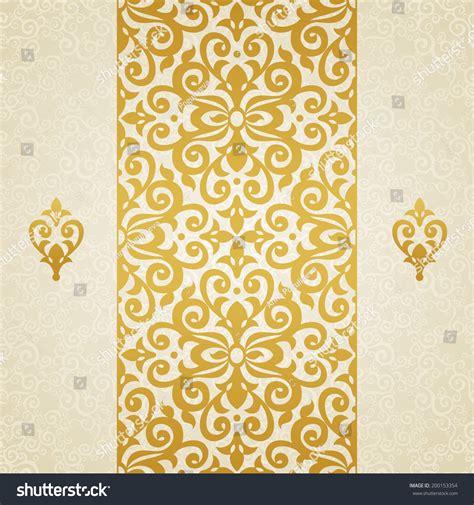 golden svg pattern background golden vector seamless border victorian style vectores en