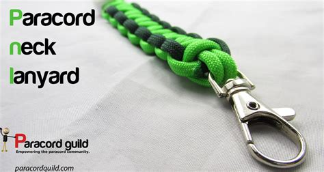 paracord survival lanyard how to make a paracord neck lanyard paracord guild
