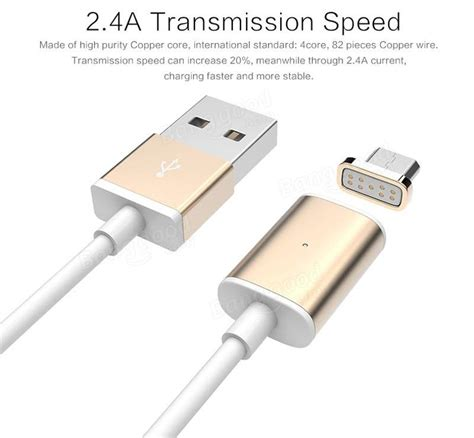 Cable Magnetic Kabel Magnet Untuk Usb Micro Fast Charging 1 usams 1m micro usb magnetic charge data cable for tablet cell phone sale banggood sold out