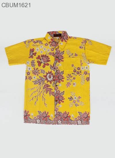Kemeja Melati hem batik anak katun cibulan melati kuning kemeja murah