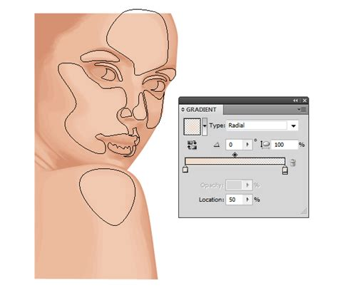 vector skin tone tutorial how to create a vector portrait with curly hair in adobe