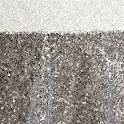 sequin silver tablecloth and overlay various by